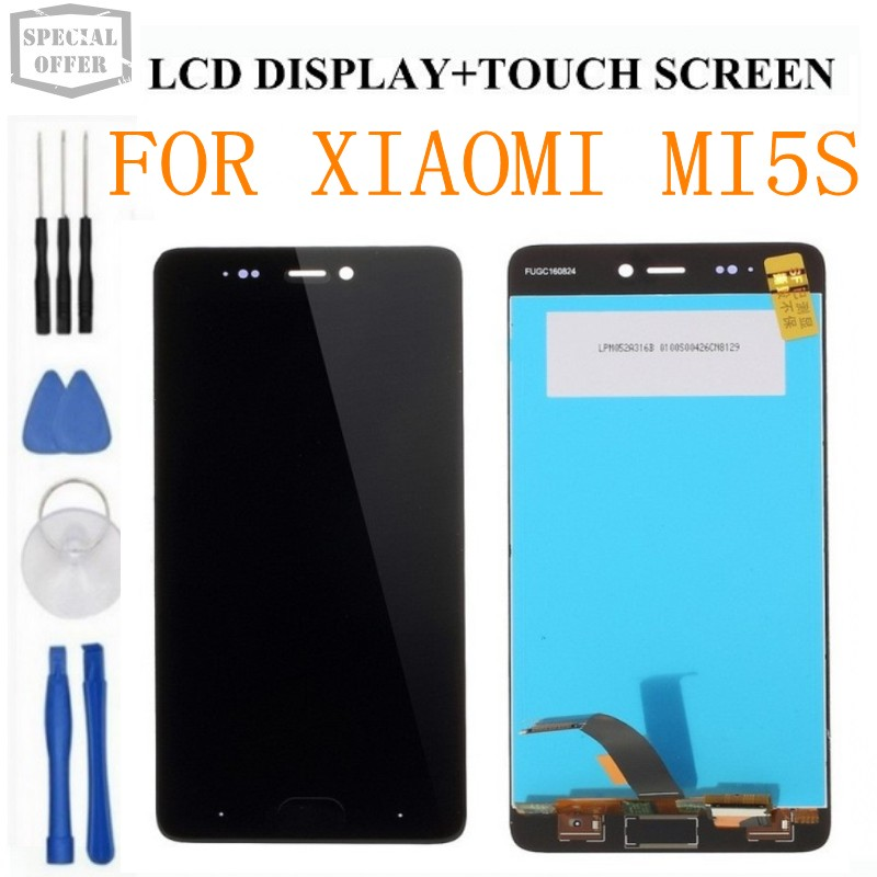 100 tested LCD display for XIAOMI MI5S Display Touch Screen Digitizer Assembly High Quality LCD Screen