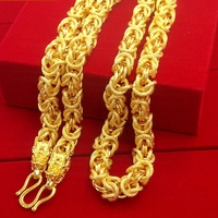 Ketting jongens mens ketting gold filled hiphop zware dikke twisted chunky choker ketting mode-sieraden 24 inches