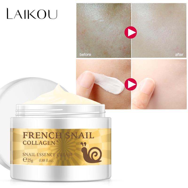 Escargot crème pour le visage acide hyaluronique hydratant anti Wrinkl anti vieillissement nourrissante collagène sérum crème de jour soins de la peau produit