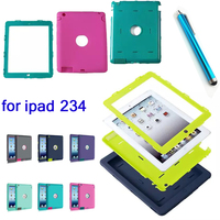 Hot Selling 9 7 Fashion Armor Shockproof Silicone Back Cover Case For IPad 2 3 4
