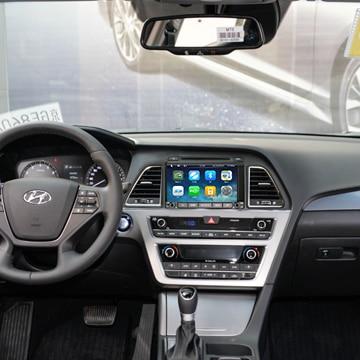 2DIN Android 9.0 Octa core lecteur DVD de voiture GPS navigation radio stéréo pour HYUNDAI SONATA LF 2015-2016 2017 2018 Radio