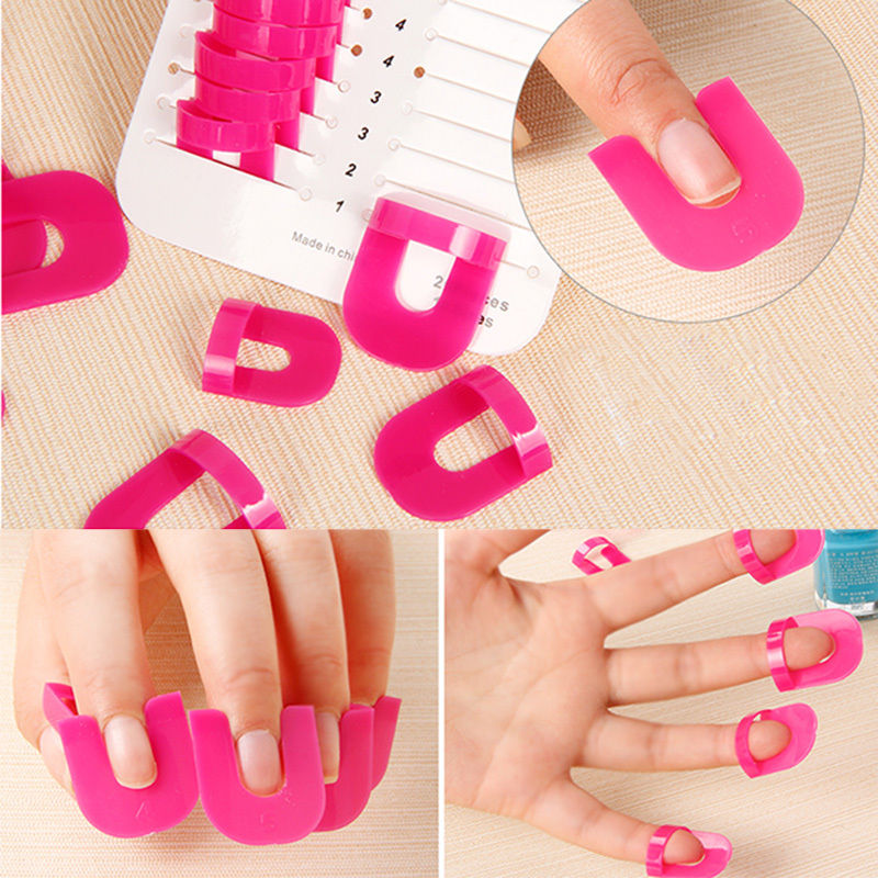 Aliexpress 2017 Best Manicure Finger Nail Art Case Simple Design Tips Cover Polish Shield Plastic Protector Tool 10size 1set 26pcs From Reliable