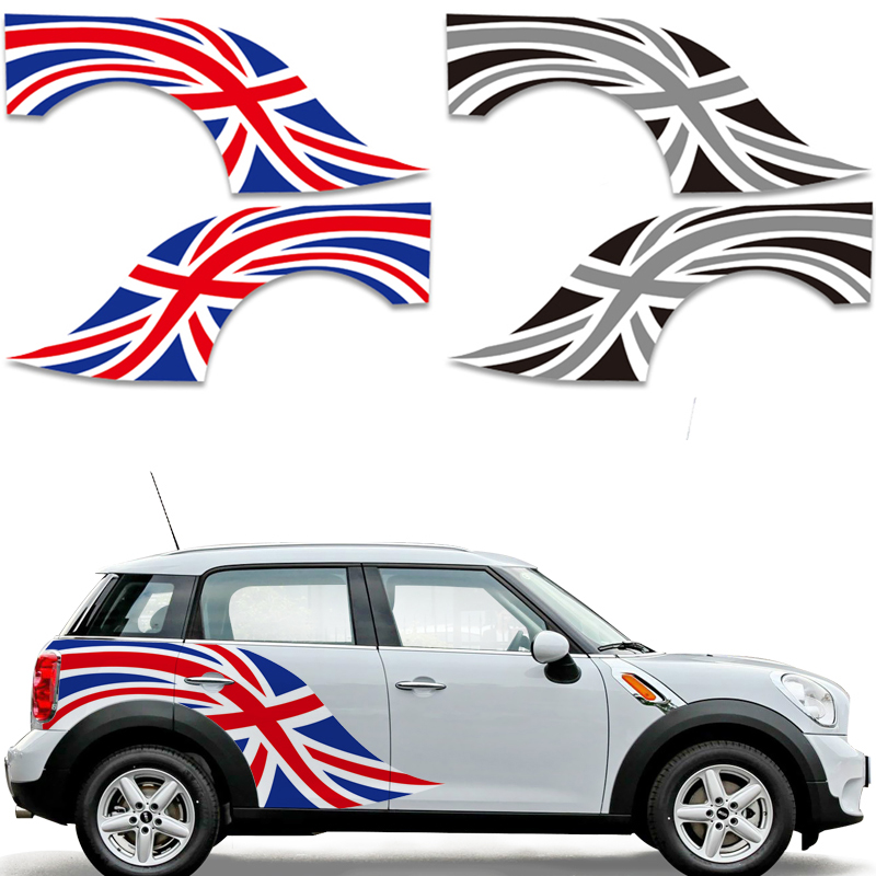 лучшая цена Union Jack Flag Car Stickers Decal Vinyl Sticker Car Styling Decoration for MINI Cooper One S JCW Countryman Clubman Accessories