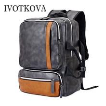 IVOTKOVA Black Laptop Backpack Daily Rucksack Men Computer Bagpacks Mochila Feminina Bag School Bags Mens