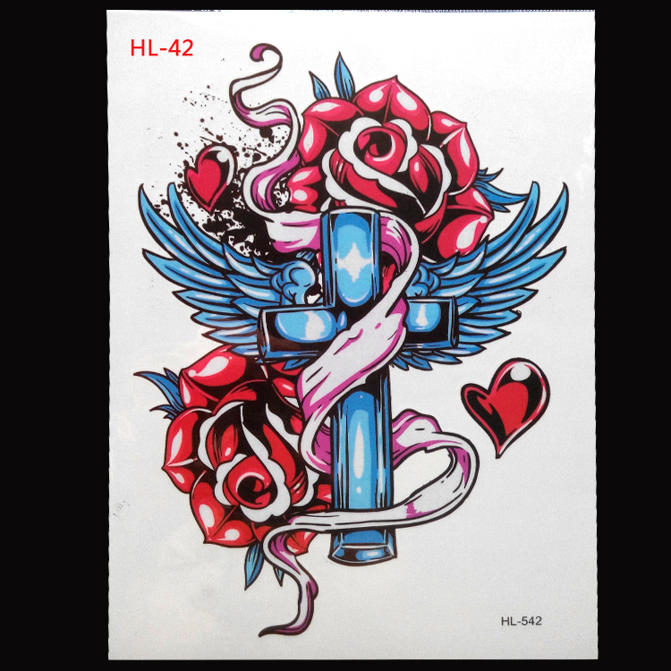 2017 Sale Top Fashion Body Art Tattoo Stickers Waterproof Disposable Temporary Skull Hl-42 21*15cm Taty