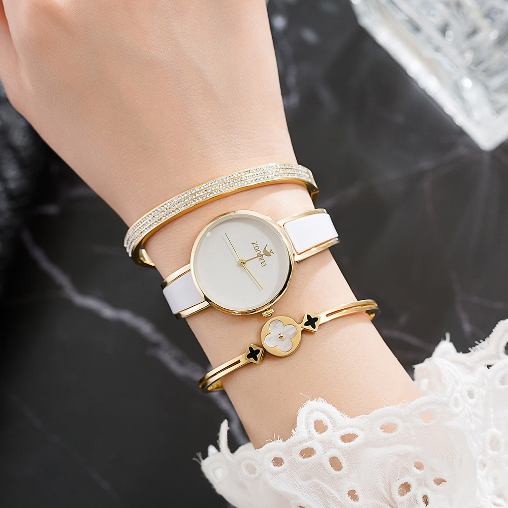 3Pcs Black Watches Women Luxury Top Brand Business Watch Women Clock Blue Simple Watch Bangle Gift Box Sets Relogio Feminino