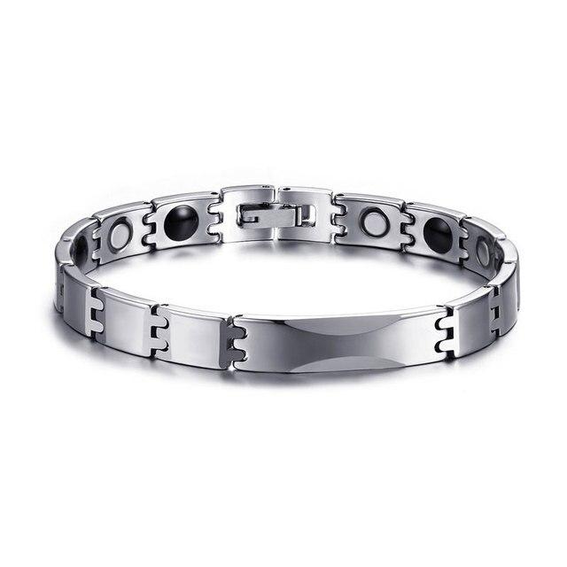 WBRM-005  Tungsten steel health care bracelet steel color hologram bracelets