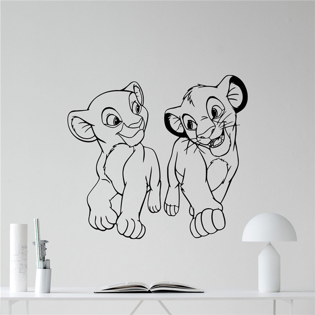 Lion King Wall Decal Cartoons Vinyl Sticker Simba Nursery Wall Decor Kids Baby  Room Wall Art Wall Custom Children Mural X343 Part 93