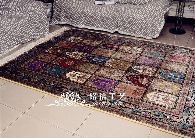 mingxin 6x9 pieds quatre saisons gomtrique tapis turc conception hande fait soie tapis htel grand tapis - Tapis Turc
