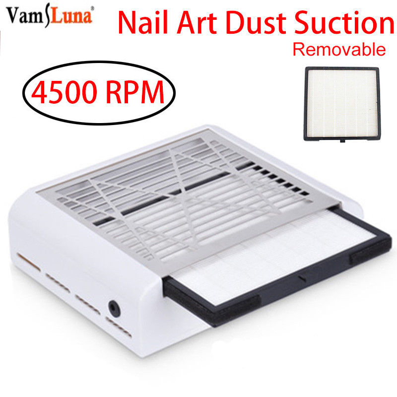 40W High Quanlity Strong Power Nail Dust Collector Nail Fan Art Salon Suction Dust Collector Machine Vacuum Cleaner Fan