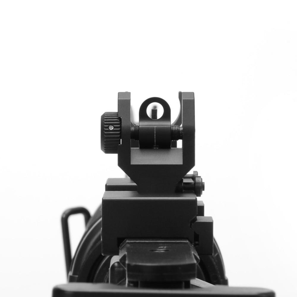 Flip up Front Rear Iron Sight Set Dual Halve maan Vorm BUIS - Jacht - Foto 2