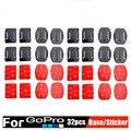 8 шт. Плоские и 8 шт. Изогнутые Клей 16 шт. Крепление для GoPro HD Hero 2 3 3 + 4 Xiaomi Yi SJ4000 Спорт Go pro Аксессуары Стикер