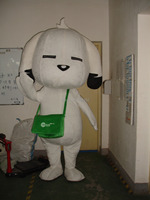 Free shipping adult size White dog Mascot Costume fancy outfit