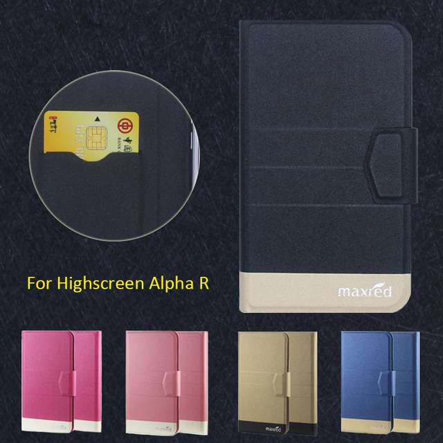 Newest Hot! Highscreen Alpha R Phone Case, 5 Colors High quality Full Flip Fashion Customize Leather Luxurious Phone Accessories
