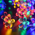 Рождественские Огни Солнечный СВЕТ лампы строка бытовой водонепроницаемый открытый газон свет сада и ландшафтного Освещения светодиодные ленты