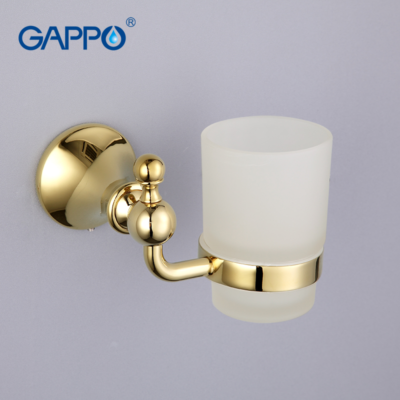 GAPPO 1 set Zinc alloy cup holder Glass cups Wall mount Bathroom Accessories Single Toothbrush Tooth