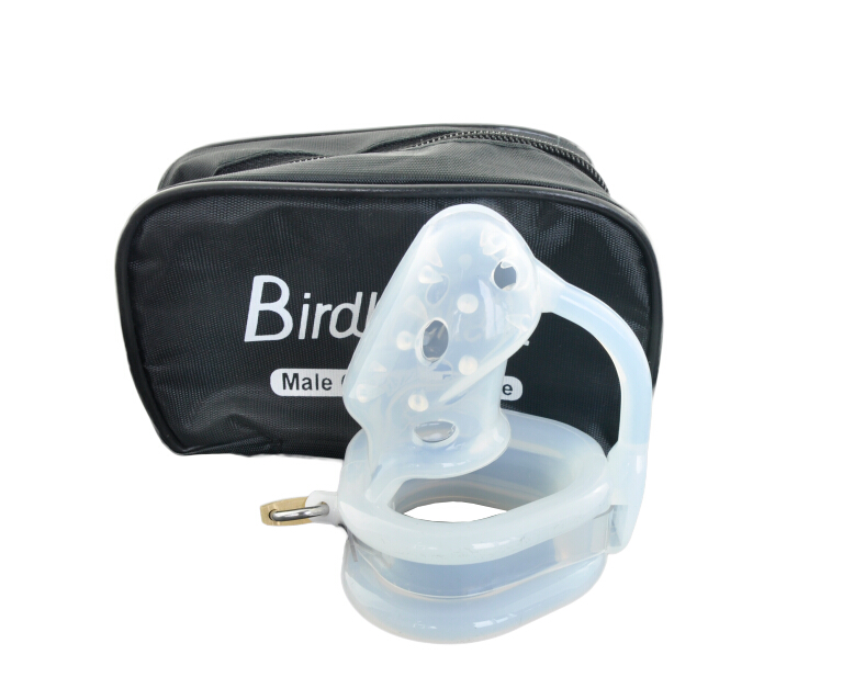 Transparent silicone male chastity device cock cage bird lock CB6000S penis ring chastity belt adult sex products for men penis wearable penis sleeve extender reusable condoms sex shop cockring penis ring cock ring adult sex toys for men for couple