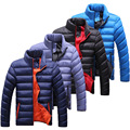 Novo casaco de inverno masculino coreano moda casual grosso quente para baixo homens jaqueta de algodão acolchoado gola Outwear casaco para baixo e Parkas homens