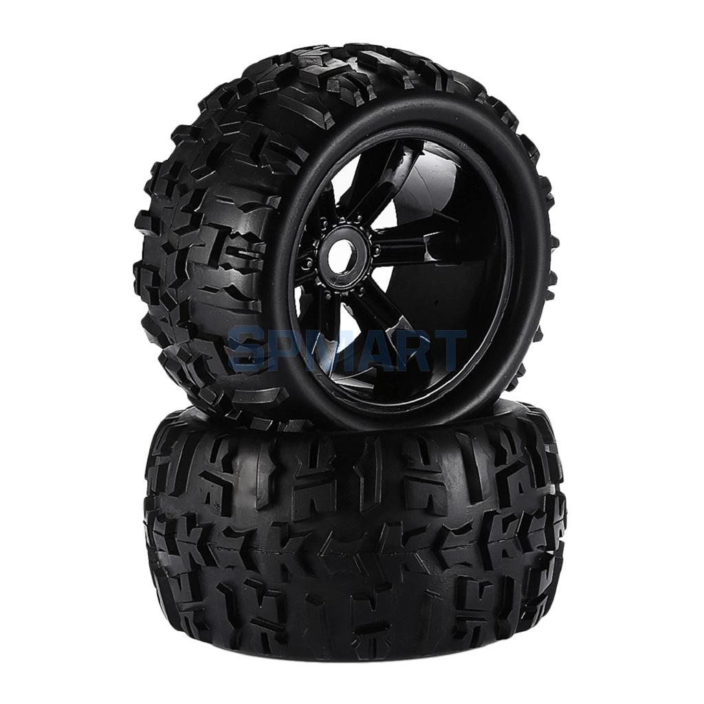 2 Pieces 1/8 Climbing RC Car Monster Trucks Tires Wheels Rim for HSP HPI E-MAXX Savage LRP Spare Parts hsp 02024 differential diff gear complete 38t for 1 10 rc model car spare parts fit buggy monster