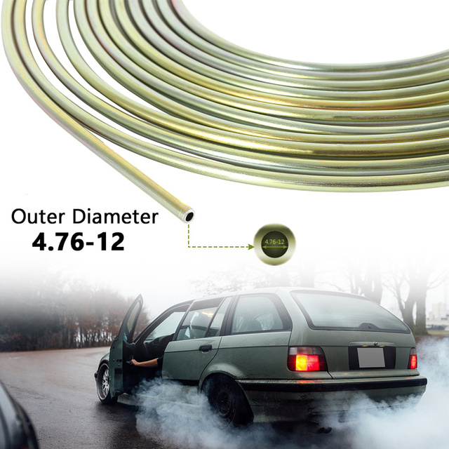 Cupro Nickel Fuel Brake Pipe Hose Line 25FT Copper Outer Diameter 4.76-12 Brake Tube Auto Replacement Parts