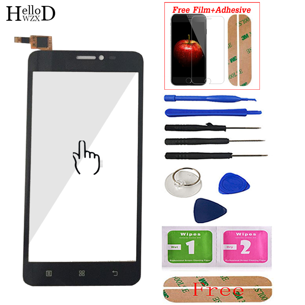 5.0'' For Lenovo S850 S850T Touch Screen Glass Digitizer Panel Front Glass Lens Sensor Tools Adhesive + Screen Protector