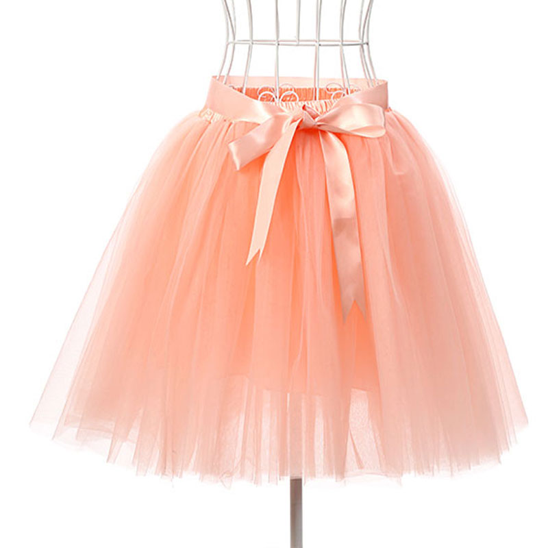 skirts womens 7 layers 50 cm midi tulle skirt american