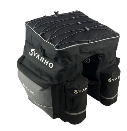 43L Capacity Cycling Bicycle <font><b>Bag</b></font> <font><b>Bike</b></font> Rear Seat <font><b>Bag</b></font> pannier with Rain Cover image