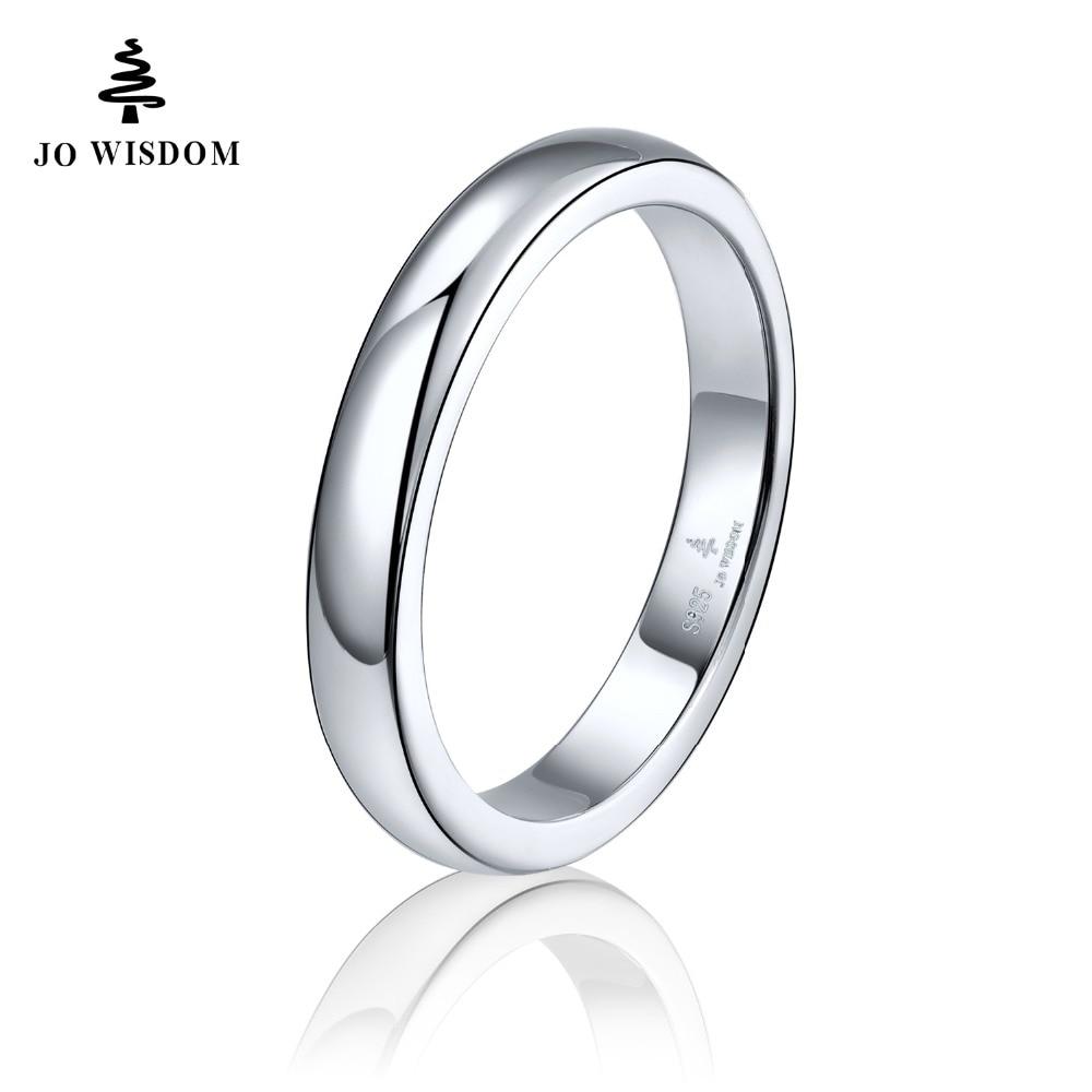 JO WISDOM Classic Design 100% Sterling 925 Silver Women Engagement Ring Best Gift For Girlfriend Fine Jewelry