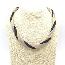 2015 Fashion Bohemian Style Punk Fashion Simple Metal Braid Twist Chain Necklaces & Pendants Woman's Necklace