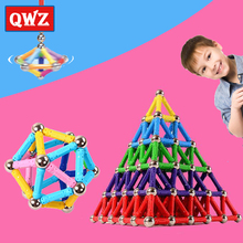 280-50pcs Magnet Toy Bars Magnetic Building Blocks Construction Toys For Children Designer Educational Toys For Kids Metal Balls magnetic building blocks construction toys magnet toy bars