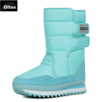 Women Snow Boots For 2014 New Fashion Winter Flats Solid Ankle Boots 9 Colors Eur Size