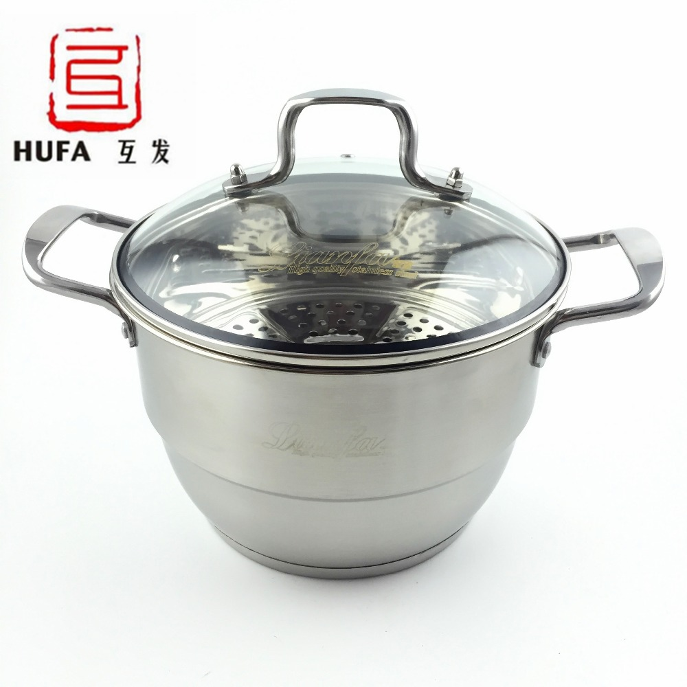 24cm stainless steel soup pot non magnetic multi function. Black Bedroom Furniture Sets. Home Design Ideas