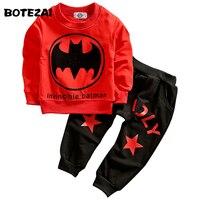 Batman Children Boys Clothing Set Long Sleeve Baby Boy Casual Sports Suits Kids 2pcs Sets Spring