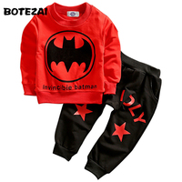 Batman Children Boys Clothing Set Long Sleeve Baby Boy Casual Sports Suits Kids 2pcs Sets Spring