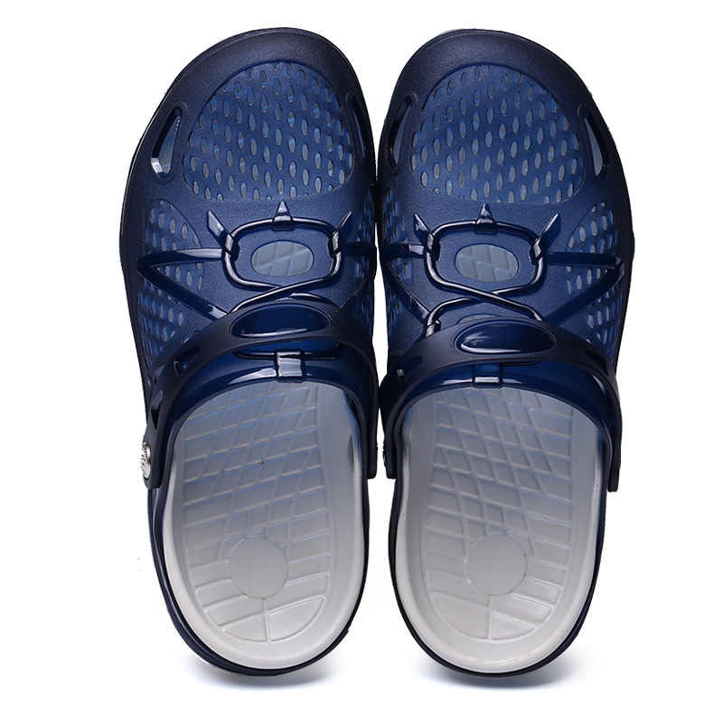 2dae76e22 ... Zuoxiangru Summer Men s Beach Breathable Slippers Tpu Garden Mule Clogs  Shoes For Men Male Sandals Hole ...
