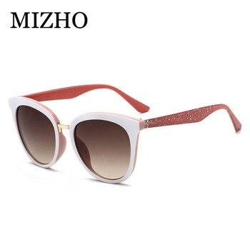 a46bb886e7 MIZHO moda ojo de gato gafas de sol mujer marca diseñador Vintage señoras  2019 estrella pequeño marco gradiente gafas de sol blanco Retro sombras