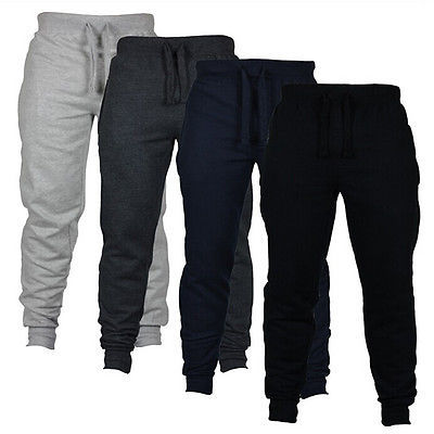 Men's Casual Harem Trousers Slacks Drawstring Sweat Pants Joggers Sweatpants