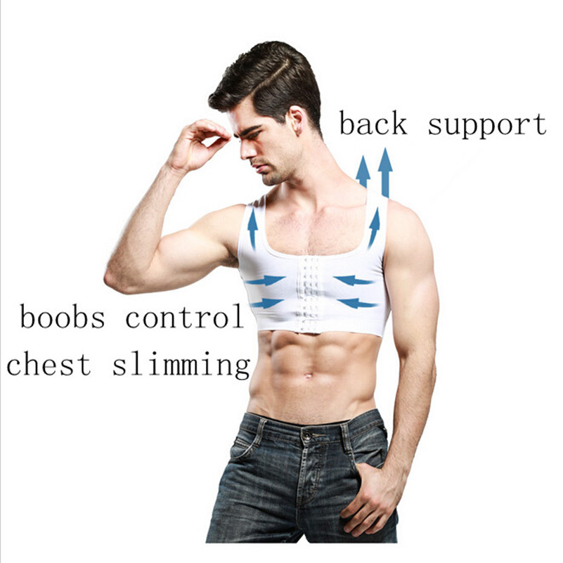 Men gynecomastia Shaper New Slimming Chest control Boobs Shapewear Extra Firm Undergarments Stomach Girdles hook control
