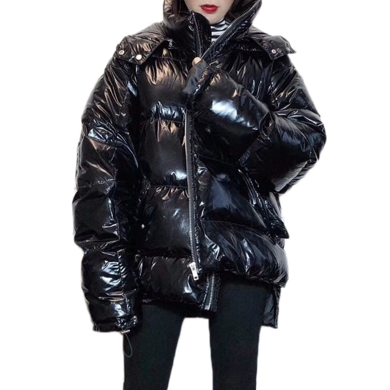 WSYORE Parka Loose Jacket Women 2018 New Winter Korean Short Warm Hooded Duck Down Jacket Female Bright Silver Down Coat NS862
