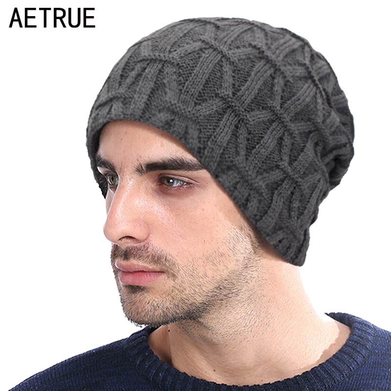 AETRUE Knitted Hat   Skullies     Beanies   Men Winter Hats For Men Women Bonnet Warm Thick Soft Fur Gorros Male Striped   Beanie   Hat Cap