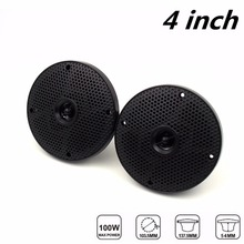 "4"" inch 160W 2 Way Black Waterproof Marine Boat Speakers Use for ATV Motorcycle / Yacht / Sauna Room / SPA / Boat"