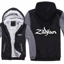 جاكيت رجالي بغطاء للرأس Zildjian شتوي جديد غير رسمي من الصوف السميك بنمط الهيب هوب Zildjian كنزة صوفية معطف رجالي
