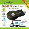 M2 Ezcast Chromecast miracast dlna airplay tv vara media player 1080 p hdmi wi-fi dongle exibição sem fio para windows ios andriod