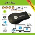 M2 Ezcast Chromecast pantalla inalámbrica miracast airplay dlna tv media player 1080 p hdmi wifi dongle para ios de windows andriod