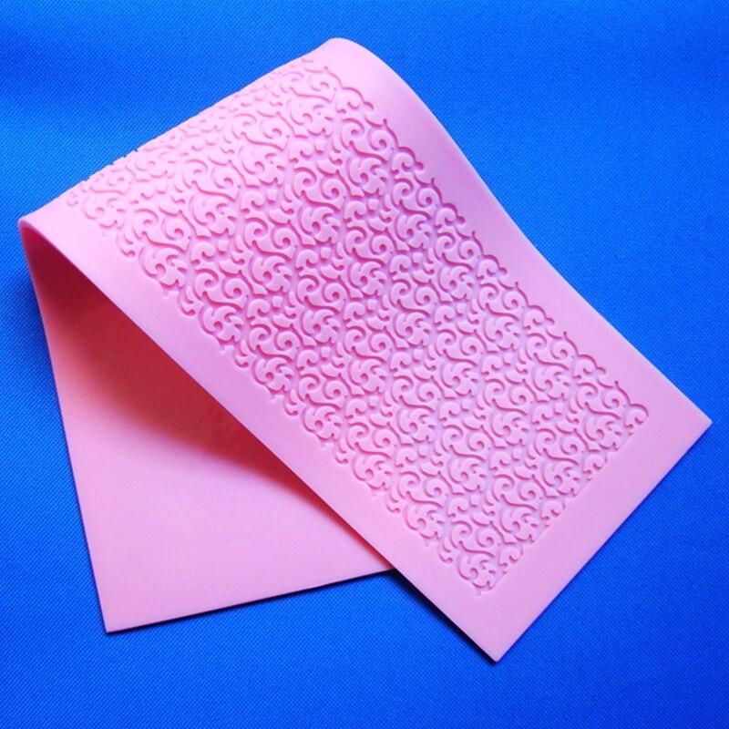 Nový styl HY200 Evropský styl Cake Border Lace Plíseň formy Silikon Fondant dekorace Forma formy dort Pečení nástroje