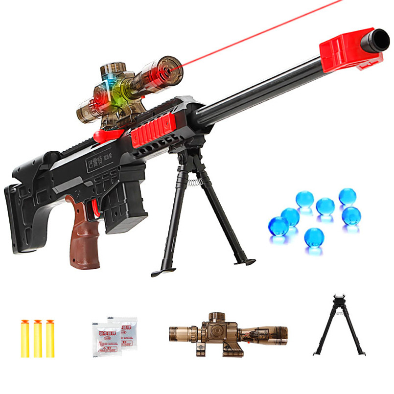 Infrared Gun Toy For Boys Plastic Sniper Rifle Pistol Crystal Water Bullet Soft Bullet Gun Outdoor Toys Play CS Games Children