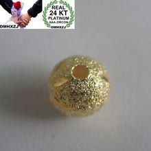 OMHXZJ Wholesale European Fashion Woman Man Party Wedding Gift Lucky Beads 24KT Yellow Gold Necklace Pendant Charm CA261 все цены