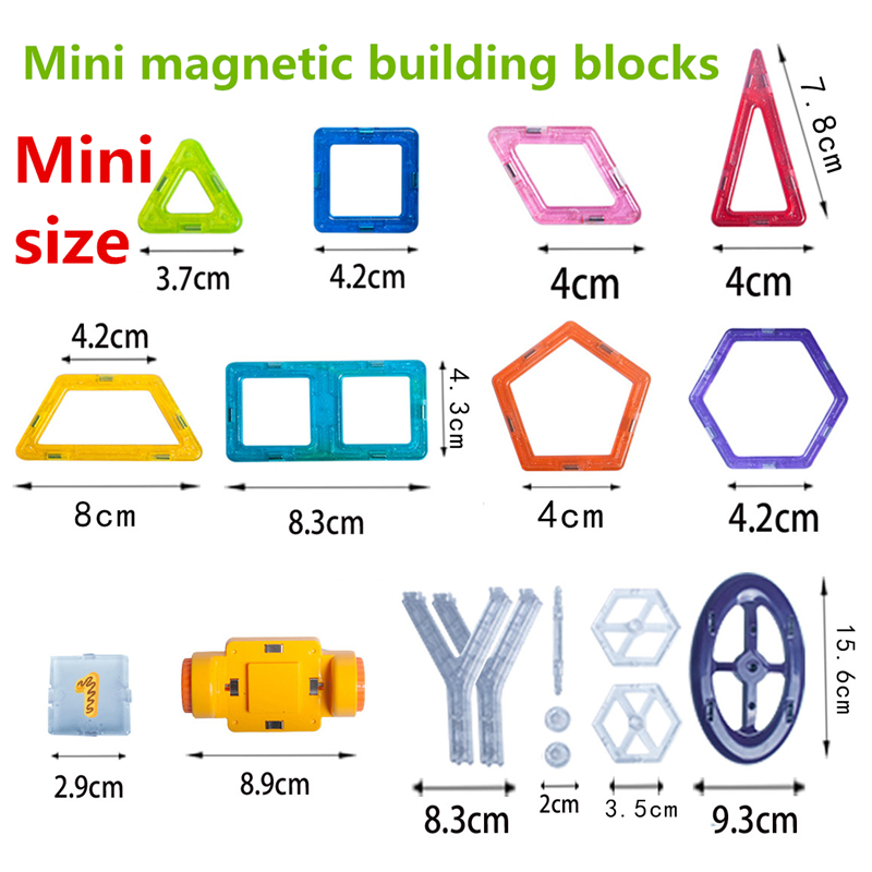 Image 5 - 142Pcs Mini Magnetic Designer Plastic Magnetic Blocks Construction Set Model & Building Toy Educational Toys Kids Gift With Box-in Blocks from Toys & Hobbies