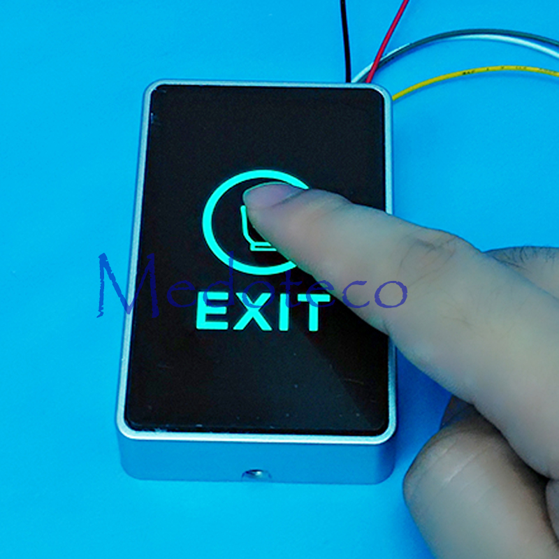 Slim Access Control Touch Exit Button NC/NO/COM Touch Switch Finger Touch Release Door Open Button Exit Switch Touch Exit Button