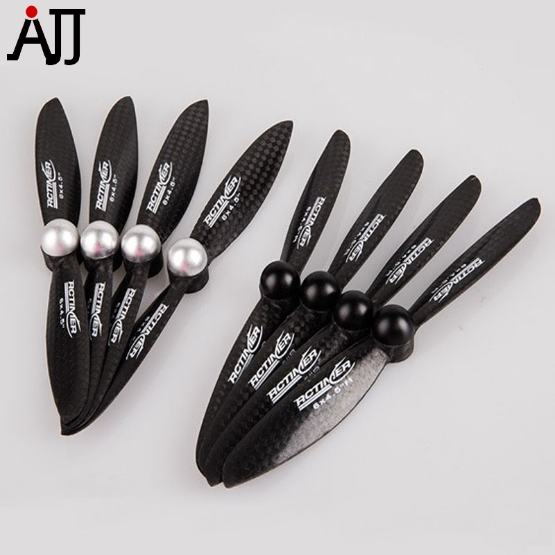 4pairs/bag Rctimer 6x4.5'' 6045 Self-locking Carbon Fiber Propeller CW CCW Props CF6045-SL Multi-Rotor Quadcopter Pro 10x3 8 3k carbon fiber propeller cw ccw 1038 cf props cons for dji f45